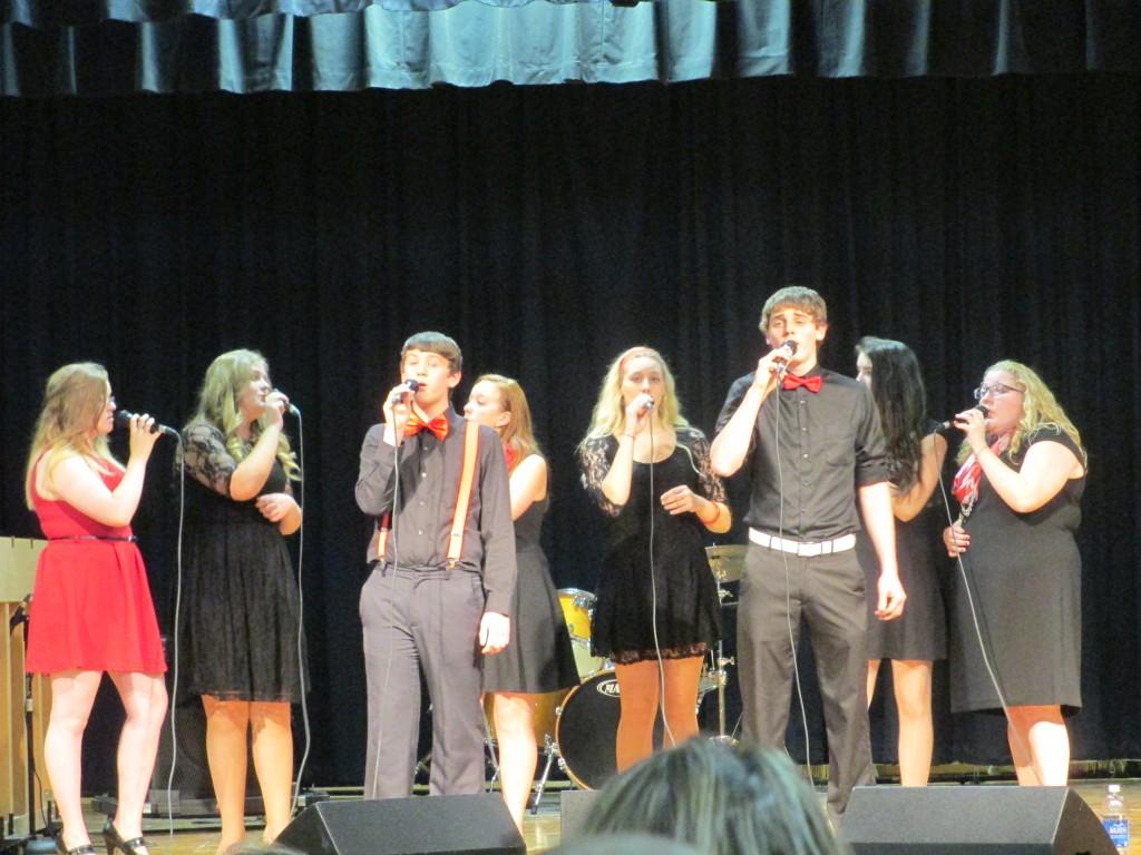 the choir singing a song