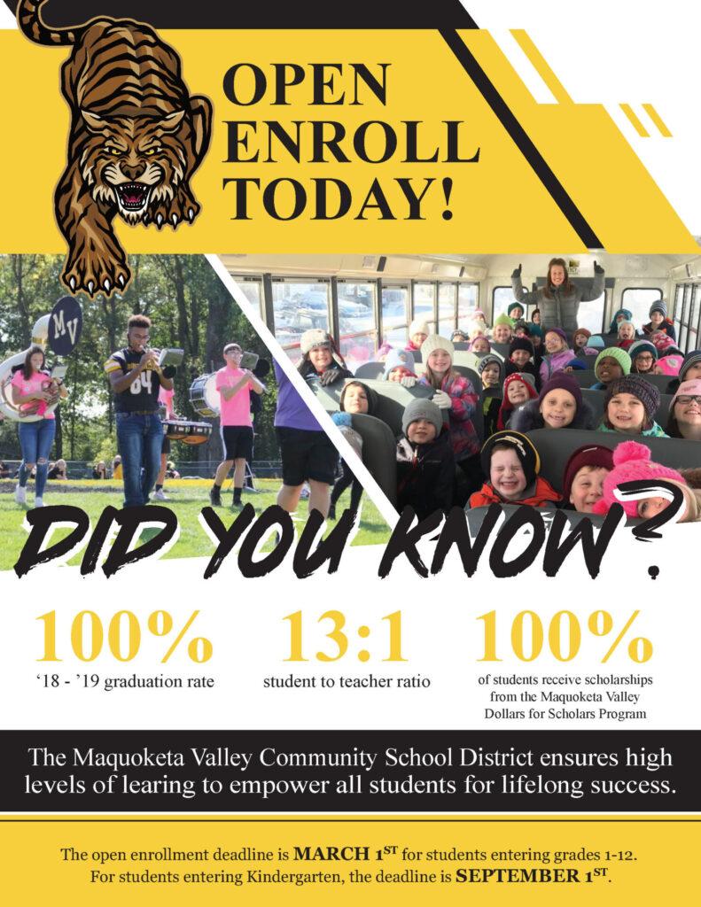 Open enrollment flyer